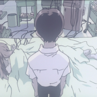 They actually animated Shinji's… you know…
